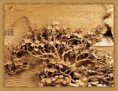 Китайская резьба по дереву.