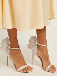 Sophia Webster Chiara, Sophia Webster Shoes, Butterfly Heels, Butterfly Wings, Gold Shoes, Glass Slipper, Formal Shoes, Beautiful Shoes, Cute Shoes