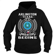 Arlington, Texas Its Where My Story Begins - #zip up hoodies #hooded sweatshirt dress. CHECK PRICE => https://www.sunfrog.com/States/Arlington-Texas-Its-Where-My-Story-Begins-105737431-Black-Hoodie.html?60505