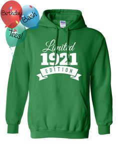 1921 Birthday Hoodie 95 Limited Edition by BirthdayBashTees