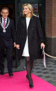 Oct 29 - Princess Maxima of the Netherlands leaves after attending the conference 'Africa Works' at the Theater Figi in Zeist