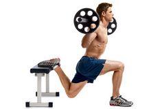 Gambe d'acciaio con lo squat a una gamba sola