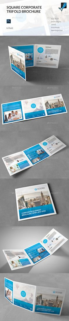 Square Corporate Trifold Brochure Template PSD #design Download: http://graphicriver.net/item/square-corporate-trifold-brochure/13506231?ref=ksioks