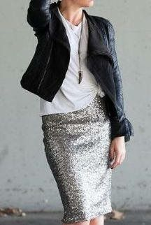 More ideas for a sequin skirt.