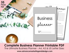 Small Business Printable Planner, Marketing Finance Planner, Business Organizer, Home Management, Etsy, Tracker, A4, A5, US Letter Sizes