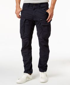 A classic style gets a modern update with these Rovic pants from GStar, featuring a tapered slim fit and a contemporary cargo-pocket design. Slim Fit Cargo Pants, Cargo Pants Men, Mens Cargo, Stylish Men, Men Casual, Gents Fashion, Fashion Edgy, Cargo Pants Outfit, Jeans Pants