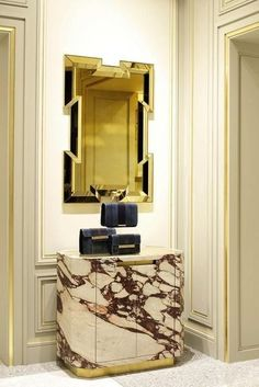 Joseph Dirand, Pucci Madison Ave.  Love the gold detail on the moulding.