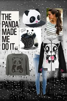 """""""♡Panda Outfit♡"""" by marielcatipon ❤ liked on Polyvore"""