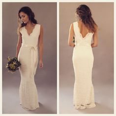 Lace Backless Fishtail Wedding Dress Readytowear Thismodernlovebridal Vintage Bridal Handmade In