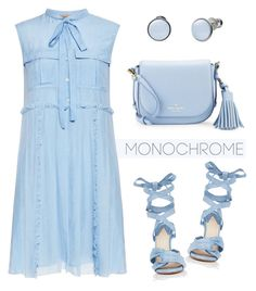 """Blue monochrome"" by rasa-j ❤ liked on Polyvore featuring N°21, Altuzarra, Kate Spade, Skagen, monochrome and womensFashion"