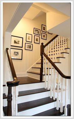 Like the paint-wood treatment of the stairs and art work.