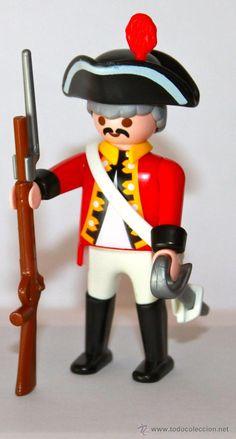 todocoleccion: Playmobil Figura de Casaca Roja Soldado de la Guardia Red Coat Victoriano