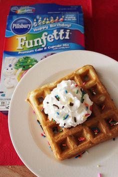 Funfetti waffle recipe