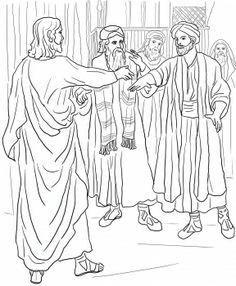 ten sick men coloring page Coloring Jesus Heals the Sick source