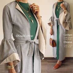 "3,626 Likes, 46 Comments - Ghada shop (@ghada.shop) on Instagram: ""Cardigan: Sold Out! Green Dress: Available كارديچان طويل بخامة و قصة مميزة عملية و أنيقة منسق مع…"""