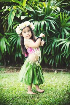 Cute Little Hawaiian Hula Dancer