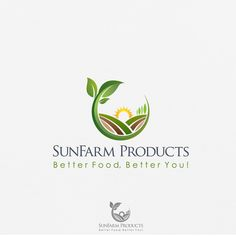 SunFarm Products - Create a logo for SunFarm Products Ltd. _export natural foods We are well experienced in the exporting market to Asian Pacific regions for Canadian food Products. As a team-run, p. Agriculture Companies, Agriculture Logo, Industry Logo, Canadian Food, Natural Foods, Create A Logo, Custom Logo Design, A Team, Wellness