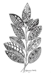 Feathers + leaves coloring pages for adults. Leaf Drawing, Mandala Drawing, Mandala Art, Doodle Drawings, Doodle Art, Animal Drawings, Leaf Coloring Page, Adult Coloring Pages, Zentangle Patterns