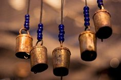 temple bells, with beads