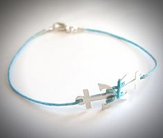 Sterling Double Anchor bracelet on line. $22 from JewelryByMaeBee on Etsy.