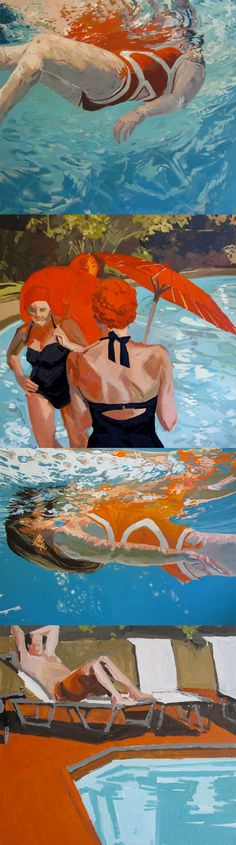 <3 paintings by samantha french on etsy