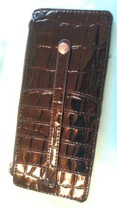 Relativity patent Croco Slim Organizer Wallet with 6 card cases secure&light! #B #Relativity #MiniWallet