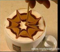 Coffee Art | Flower in Process