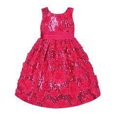 American Princess Sequin Rosette Dress - Girls 4-6x