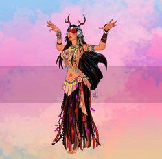 Pocahontas belly dancer