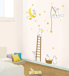 Rabbit Star Easter Fun Home Decor Mural Art Point Wall Sticker PS165 by verryberrysticker on Etsy https://www.etsy.com/listing/76555948/rabbit-star-easter-fun-home-decor-mural