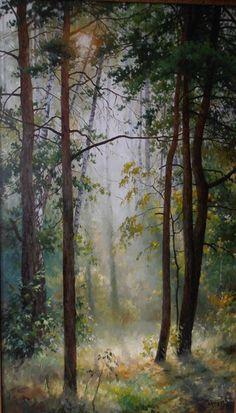 Painting by Artist Roman Božkov Watercolor Trees, Watercolor Landscape, Abstract Landscape, Watercolor Paintings, Original Paintings, Watercolor Artists, Abstract Oil, Abstract Paintings, Oil Paintings