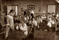 """April 1917. """"Daily inspection of teeth and fingernails. Older pupils make the inspection under the direction of teacher who records results. This has been done every day this year. School #49, Comanche County, Oklahoma (near Lawton)."""""""