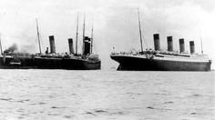 The RMS Titanic in Southampton after almost colliding with the SS New York, April 10, 1912, Credit: Wikipedia - Springfield Daily Republican, Springfield, Mass., Thursday, April 11, 1912, Page Eighteen, Courtesy Genealogy Bank    Titanic's Maiden Voyage - Giant Liner Drags the New York From Moorings at Southampton