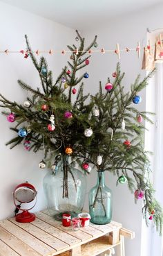 Decorating for the holidays :: Decorating for the holidays when you don't have a tree. The Entertaining House. Image via.