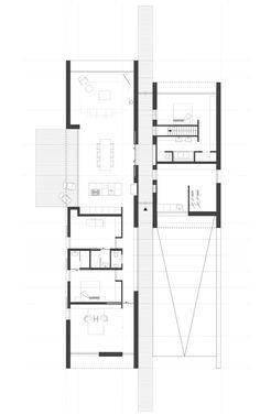 201404 Woning | ARCHITECTUURSTUDIO SKA Tree House Plans, House Plans One Story, House Floor Design, Cool House Designs, Shed Homes, Cabin Homes, Home Design Plans, Plan Design, Co Housing