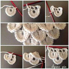 Best 12 Zuhal'in Elişi Dünyası – Handicrafts, embroidery, knitting, paintingHow to crocodile stitch crochet free pattern c k crafts – ArtofitCrochet step by stepCrocodile crochet stitch, this shows how to increase as you go. Crochet Crafts, Crochet Yarn, Crochet Flowers, Crochet Projects, Free Crochet, Easy Knitting Patterns, Crochet Stitches Patterns, Crochet Designs, Crochet Crocodile Stitch