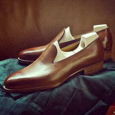 loafer in Reindeer Calf by @Kimberly Peterson Peterson Peterson Munday Crispin's Shoes.