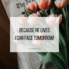 Because He lives I can face tomorrow! Christian Life Coaching, Because He Lives, Gods Not Dead, I Can, Canning, Face, Faces, Home Canning, Facial