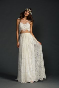 The stunning Grace Loves Lace Avril two-piece wedding dress.