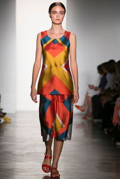 A look from the Ostwald Helgason Spring 2015 RTW collection.