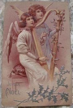 Engel met een harp.