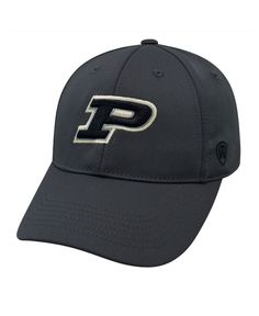 Top of the World Purdue Boilermakers Alliance Gray Stretch-Fit Cap