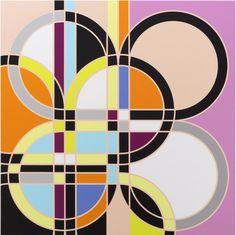Sarah Morris Painting Double Cats Paw Knots Geometric 2010