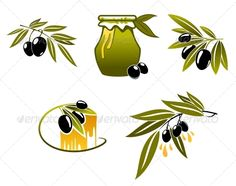 Olive Oil and Branchs  #GraphicRiver         Olive oil and branchs for organic or bio food design. Editable EPS8 and JPEG (can edit in any vector and graphic editor) files are included  	 SPORTS  	                                            	 MASCOTS