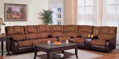Sectional Recliner Sofa in Brown MicroFabric Dark Brown Vinyl by Coaster Home Furnishings, http://www.amazon.com/dp/B003ADEDCA/ref=cm_sw_r_pi_dp_Vd7Qqb09XZZPW
