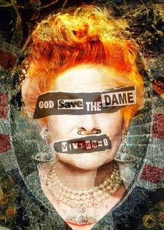ARTFINDER: 'God Save The Dame' - LARGE, Portrait... by Czar Catstick - 'God Save The Dame' - Vivienne Westwood Punk Portrait. LARGE A1 Sized 100% Cotton Photorag 840x594mm, Image size approx 630x440mm. ARTIST'S PROOF 1/2. I ...