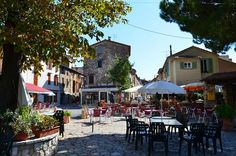 Cabris, France - I love having coffee in the village square