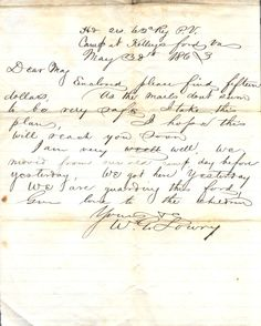 May 30th, 1863 Love letter