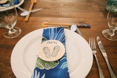 Tropical Island Wedding Table Setting - Anna Kim Photography