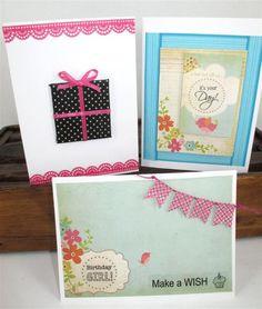 Washi Tape Cards   www.craftqueen.com.au